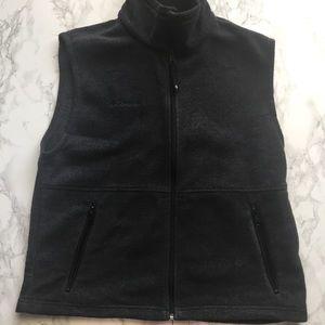 Men's Medium Dark Grey Columbia Zip Up Vest